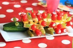 septembermorgen: Gurkenkrokodil, Gemüsespieße, Kindergeburtstag (Vollansicht)
