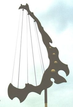 6-string windharp 120 cm: wood