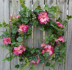 Spring Wreath with Hydrangea