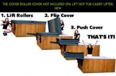 The Cover Roller Cover Not Included Spa Lift Hot Tub Caddy Lifter, NEW #gadgets #racing #products #camera #shopping #tubs #kit #tech #fpv #covers #drone #parts #hot #plans #technology