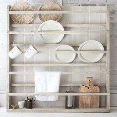 Wooden Plate Rack, Plate Rack Wall, Diy Plate Rack, Plate Shelves, Plate Holder, Wooden Plates, Wall Shelves, Wall Racks, Rack Shelf
