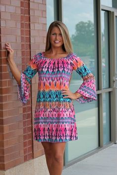 Colors of Spring Damask Tunic/Dress-PINK, $38.00