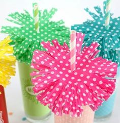 cupcake liner drink toppers