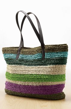 straw tote at jjill