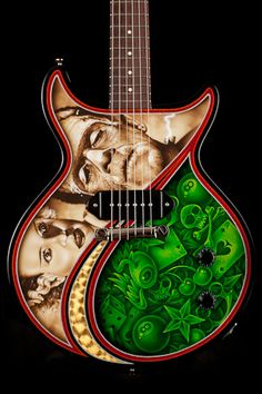 Collings guitar. Artwork by Darren Wenzel. I NEED this!!!