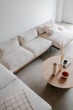 Rivera Sofa Sectional (Four Piece) Living Room Sofa, Home Living Room, Living Room Designs, Living Room Decor, Plywood Furniture, Home Furniture, Furniture Design, Painted Furniture, Modern Furniture