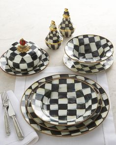 Mackenzie Childs MacKenzie-Childs Courtly Check Dinnerware - home decor / tabletop / serving dish