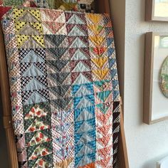 WEBSTA @ treehousetextiles - This beauty 'Flying By' by Christine Vlasic (@clvlasic ) was also dropped off to our store today perfect Autumn colours...time to move things around and tidy up the ladders!!#treehousetextiles #loveanewquilt #patchwork #flyinggeese #autumn #handpiecing #handquilting #ladder