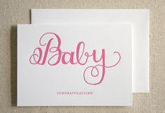 very pretty #baby girl #letterpress card by Parrott Design Studio
