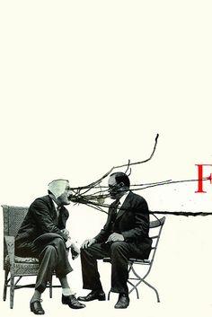 'Men, the Heated Conversation', Collage art, by Richard Vergez. Love Collage, Collage Design, Mixed Media Collage, Collage Art, Collages, Graphic Design Illustration, Graphic Art, Illustration Art, Photomontage