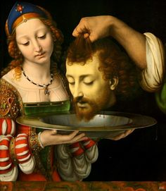 Salome with the head of St.John the baptist. 1506-7. Andrea Solario.