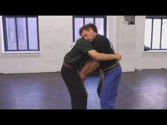 How to Defend against Front Bear Hug | Krav Maga Kung Fu Techniques, Krav Maga Techniques, Self Defense Techniques, Krav Maga Martial Arts, Israeli Krav Maga, Learn Krav Maga, Wrestling Videos, Street Smart, Michelle Lewin