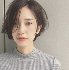Amazing and Cute Hairstyle for Short Hair – Hair Styles Short Hairstyles For Thick Hair, Girl Short Hair, Short Hair Cuts, Easy Hairstyles, Short Hair Styles Asian, Short Hair Fashion, Long Face Short Hair, Asian Haircut Short, Tomboy Hairstyles