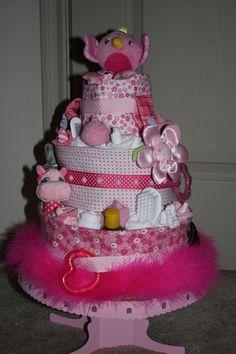 Baby girl diaper cake