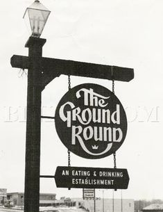 The Ground Round Restaurant. Back in the day, they played cartoons on the wall and we threw our peanut shells on the floor. Ground Round Restaurant, The Ground Round, Vintage Restaurant, Vintage Diner, Vintage Stuff, I Remember When, Ol Days, My Childhood Memories, My Memory