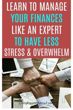 Manage your finances like an expert to save more money, pay off debt faster, and have less stress and overwhelm in your life. Managing your money the right way can make all the difference! #moneymanager #budget #savingmoney #payoffdebtfaster #lessstress #