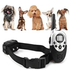 Dog Training Collar 1000M Rechargeable LCD Remote Shock...FREE SHIPPING...