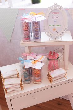 Party favors at a Pastel Rainbow Fairy Party #pastel #fairy