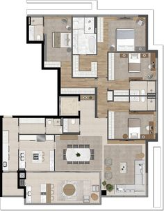 Sims House Plans, Small House Floor Plans, House Layout Plans, House Layouts, Apartment Layout, Apartment Design, Casas The Sims 4, Room Design Bedroom, Apartment Floor Plans