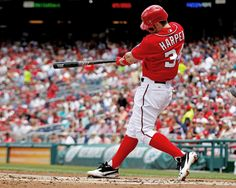 Bryce Harper is the right fielder for the Washington Nationals. He is young and fearless. Bryce Harper hits for power and has a strong throw. He's only 20 years old.