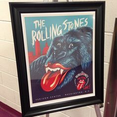 GRRRegory the gorilla artwork made for #therollingstones final night of the 50