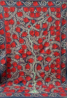 Village Drawing, American Houses, Contemporary Embroidery, Embroidery Motifs, Ikat Fabric, Fabric Strips, Wedding Night, Central Asia, Traditional Art