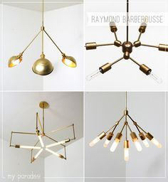 Design lighting fixtures by Raymond Barberousse