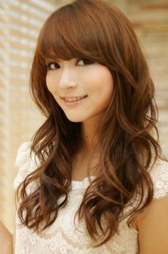 Long Asian Hairstyles On Pinterest Round Faces Asian