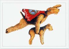"""SuperDale"" Note Card by Ann Curran / Airedale Terrier Club of America Rescue and Adoption"