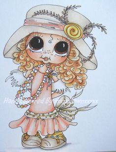 Ooak Card Topper Image, Sherri Baldy Cute As Saturated Canary Hand Coloured | eBay