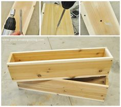 Def making flower boxes for the shed! jessicaNdesigns: DIY Window Flower Boxes.