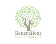 Puzzle pattern logo design: Generations Family Dental