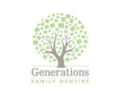 Puzzle pattern logo design: Generations Family Dental