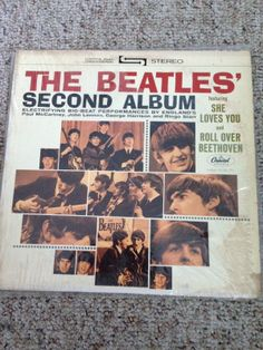 THE BEATLES - SECOND ALBUM - VINYL LP ALBUM GREEN CAPITOL LABEL