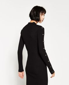 Image 1 of MIDI DRESS WITH SNAPS from Zara