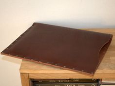 Your place to buy and sell all things handmade Document Folder, Macbook 13, Leather Projects, Laptop Case, Natural Leather, Leather Case, Artist Portfolio, Handmade, Cases