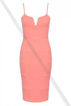 Ribbed Cami Midi Dress K1939-3 - Kjoler - Dame
