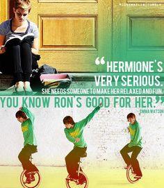 {Emma on Hermione}