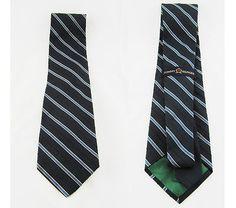 a2bbf78b Tommy Hilfiger Dark Blue Diagonal Stripes 100 Silk Designer Mens Neck Tie