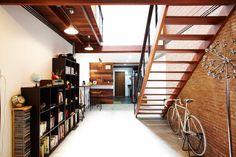 + Renovate town house to comfy loft home Mezzanine Loft, Townhouse Interior, Loft House, Home Studio, Humble Abode, Decor Interior Design, House Plans, House Design, Architecture