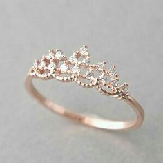 "diamond ""tiara"" ring.  #jewelry #howtostoresterlingsilverjewelrysimple"