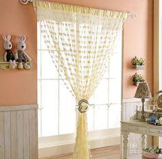 Atacado frete grátis, cortina de suspensão, forma do coração cortina, cortina decoração