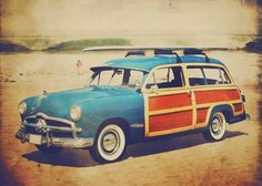 vintage surf | Fine art vintage surf photo - Surfing Safari.