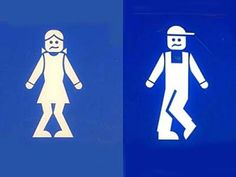 Bathroom Door Signs. Més real, no? Je,je