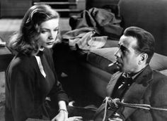 "Lauren Bacall and Humphrey Bogart in ""The Big Sleep"""