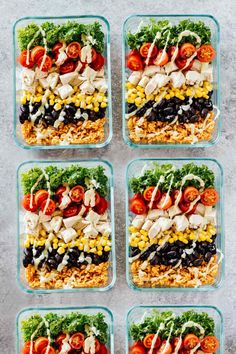Meal Prep Southwest Chicken Burrito Bowls - Jar Of Lemons Lose weight & stay on budget with these healthy recipes for weight loss! Meal prep these healthy lunches and clean eating dinners ahead to save time & enjoy weight loss & lose belly Burrito Bowl Meal Prep, Meal Prep Bowls, Burrito Bowls, Chicken Burrito Bowl, Easy Lunch Meal Prep, Meal Prep For Work, Taco Meal, Taco Bowls, Meal Prep Cheap