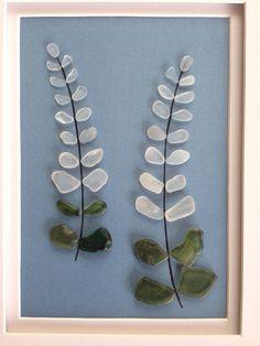 Arte en vidrio originales mar guijarro por EmilysNatureEmporium