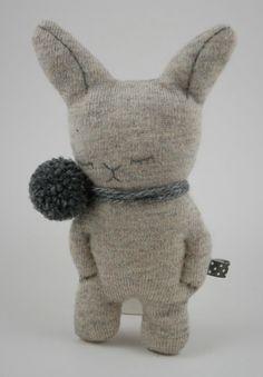 bunny with poms awwww!