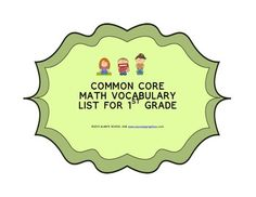 This is a 79-page file that contains 158 common core vocabulary list in Math for 1st graders.  You may use this set for unlocking of difficulties, review ( after the lesson or at year end ) and for your word wall. However, your second graders could also benefit from these. This set of words are based on the following domains:  1.  Operations and Algebraic Thinking 2.  Number and Operations in Base Ten 3.  Measurement and Data 4.  Geometry  Thanks for your purchase. Enjoy teaching…