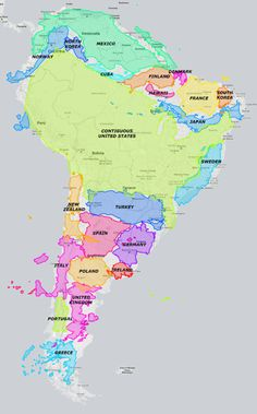maps true size north and south america world countries